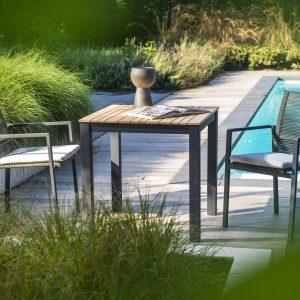 Arashi dining table - dark grey + Ishi dining chair | Yoi Oisterwijk