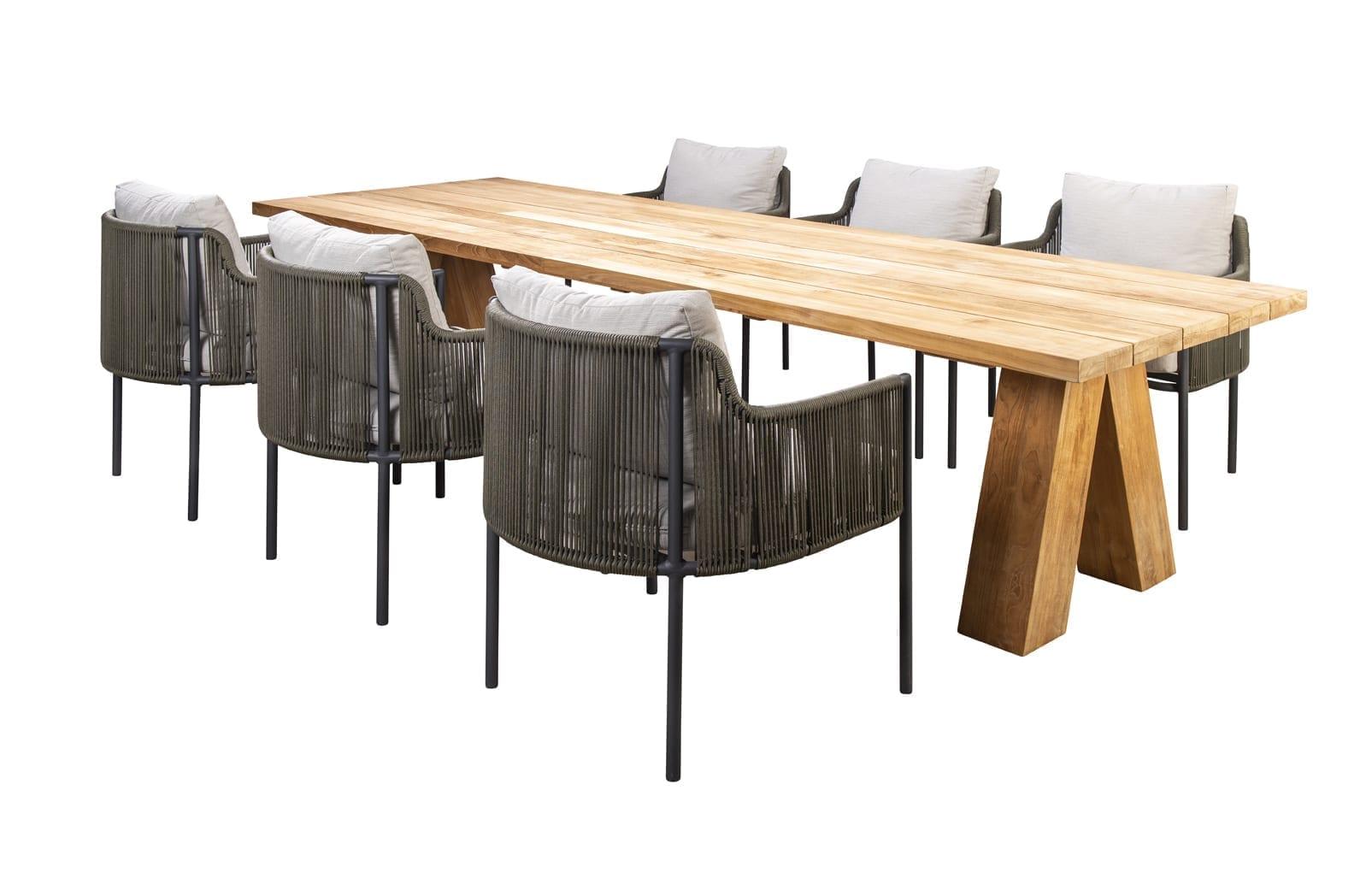 Haru table, 300x100 + Umi dark grey / green | Yoi Oisterwijk